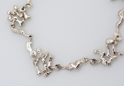 A picture of a twig-like bracelet