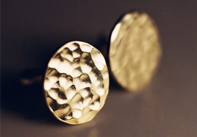 Forged gold cufflinks